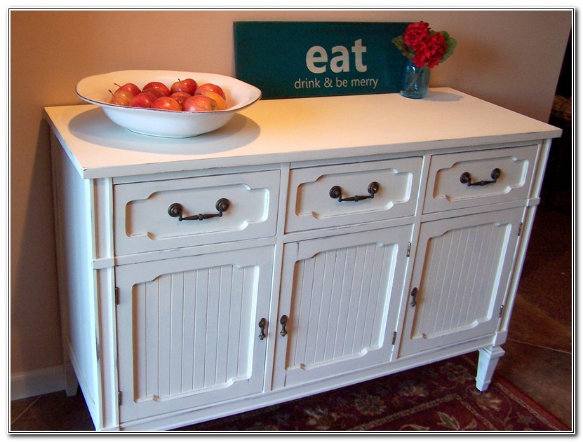 White Buffet Cabinets