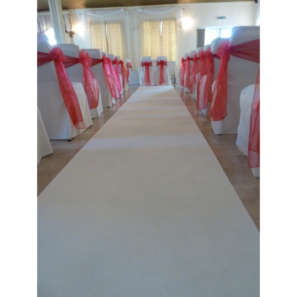 White Carpet Aisle Runner
