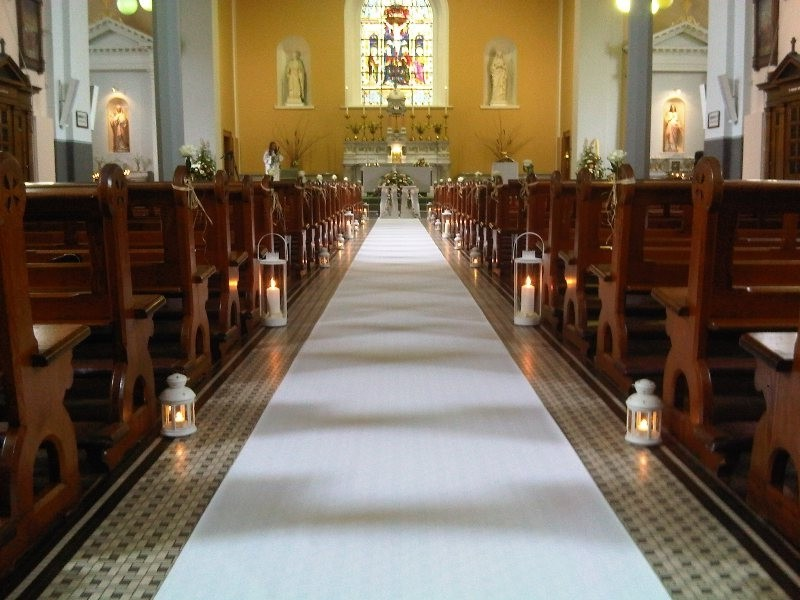 White Carpet Runner For Weddings