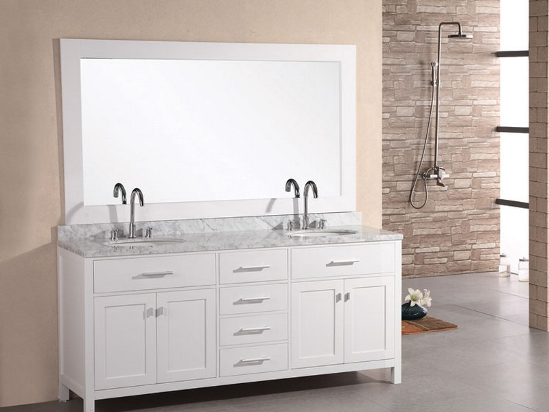 White Carrara Marble Bathroom Vanity