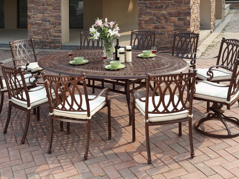 White Cast Aluminum Patio Furniture