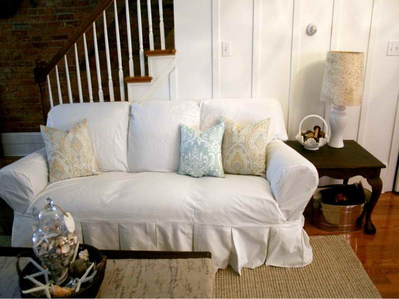 White Couch Slipcovers