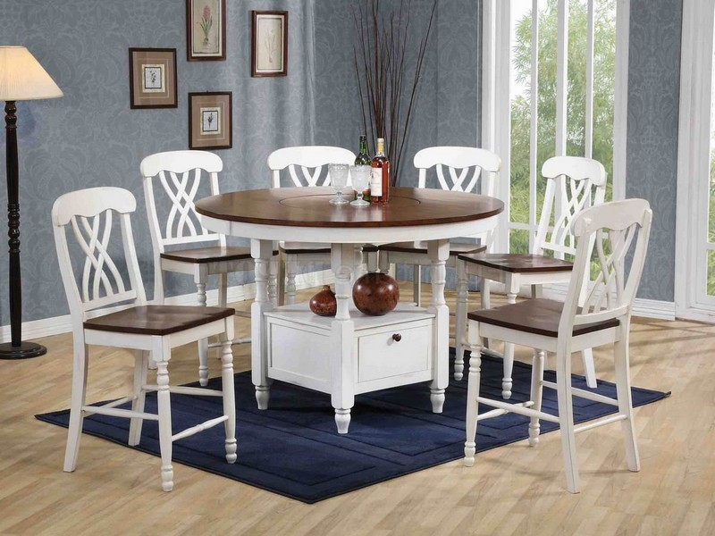 White Counter Height Dining Set