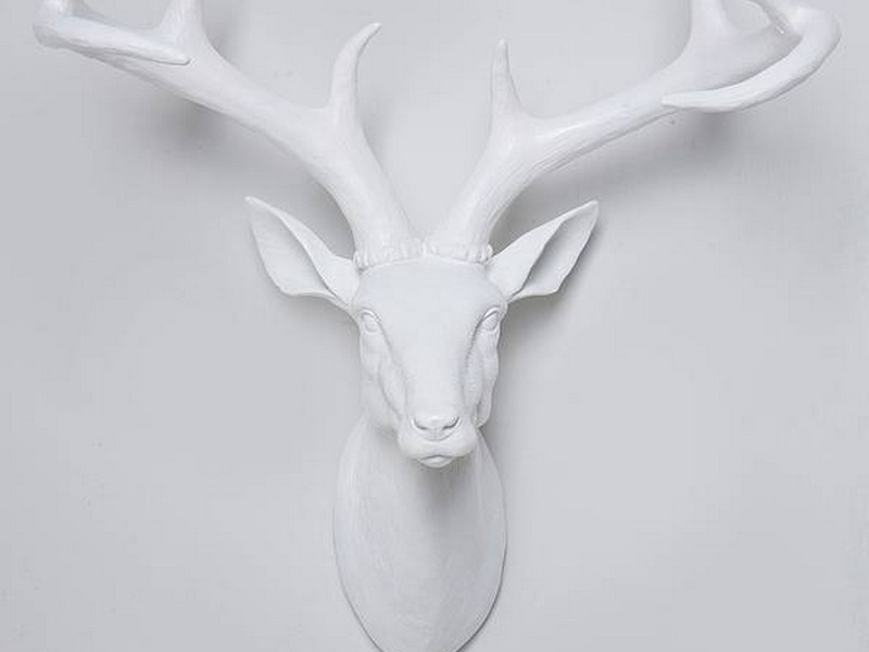 White Decorative Deer Head