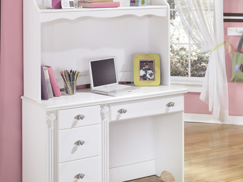White Desks With Hutch And Drawers