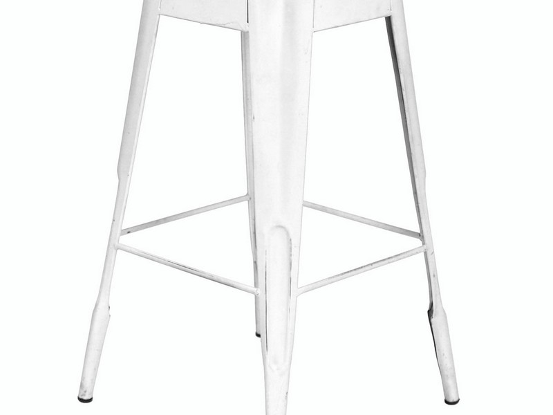 White Distressed Bar Stools