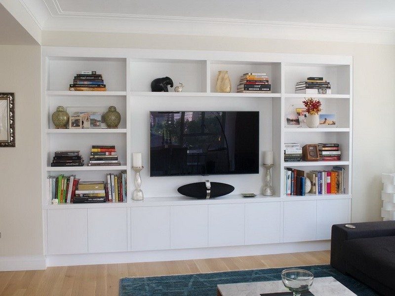 White Entertainment Centers Wall Units