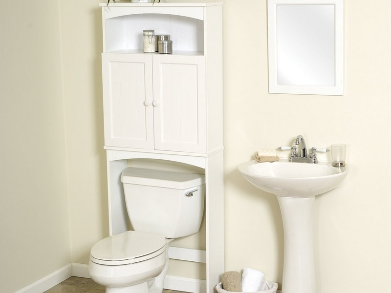 White Etagere Bathroom
