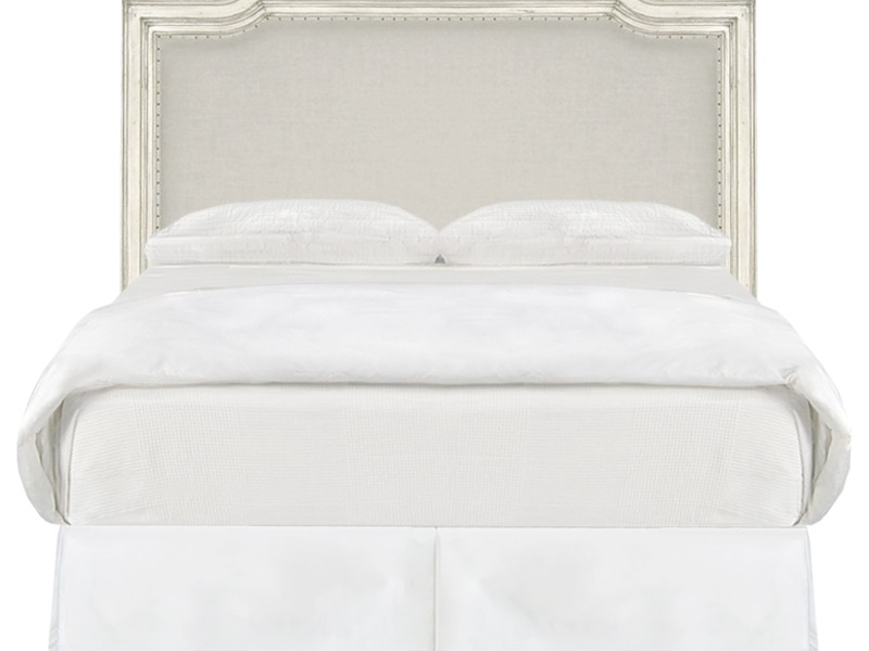 White Fabric Headboard