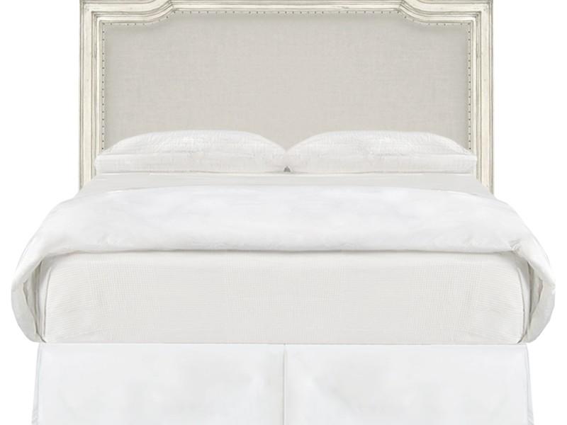 White Fabric Headboard