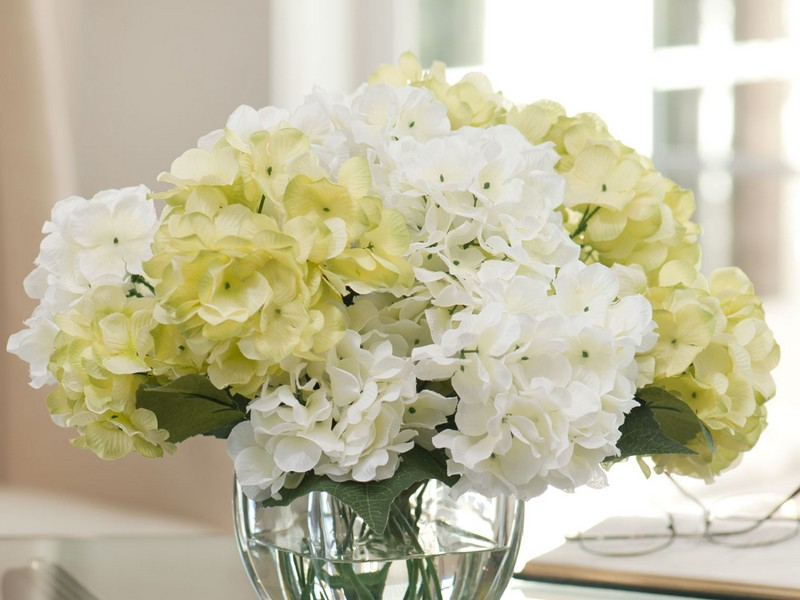 White Faux Floral Arrangements