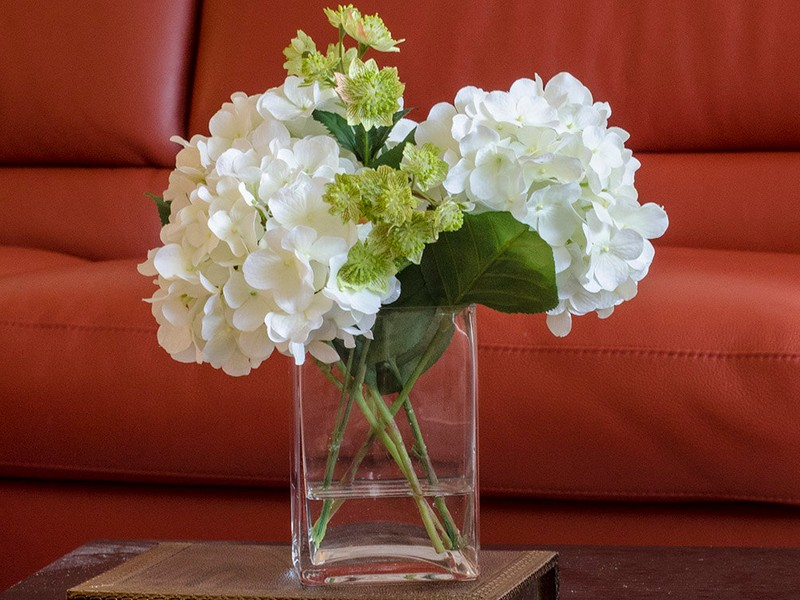 White Faux Flower Arrangements