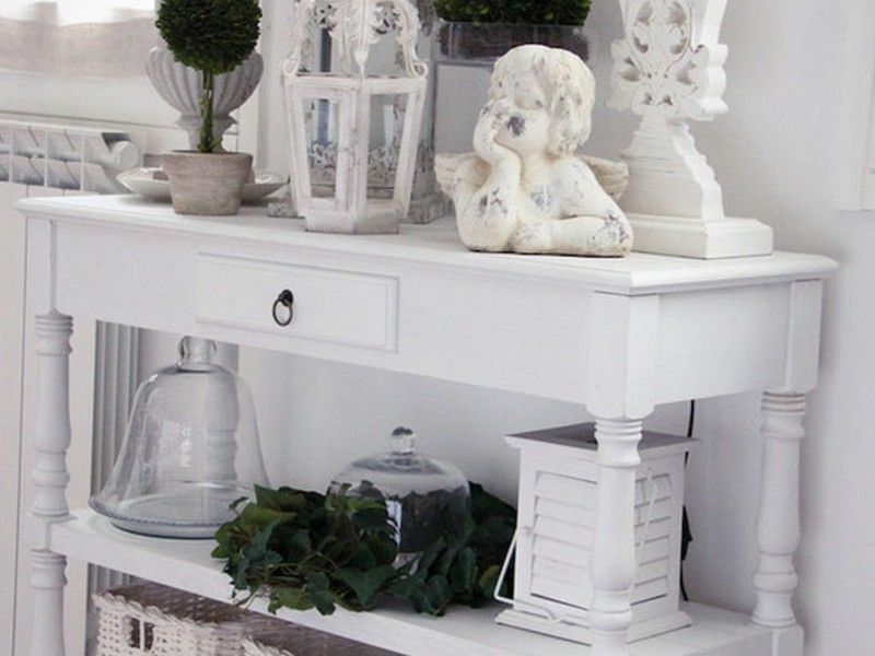 White Foyer Table