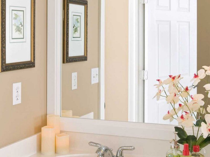 White Frame Bathroom Mirror