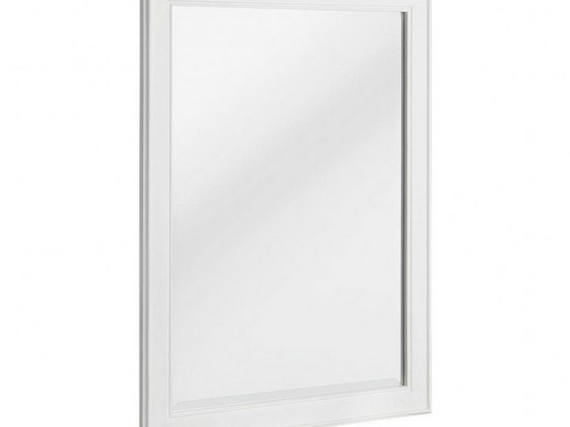 White Framed Bathroom Wall Mirror