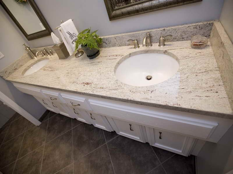 White Granite Bathroom Countertops