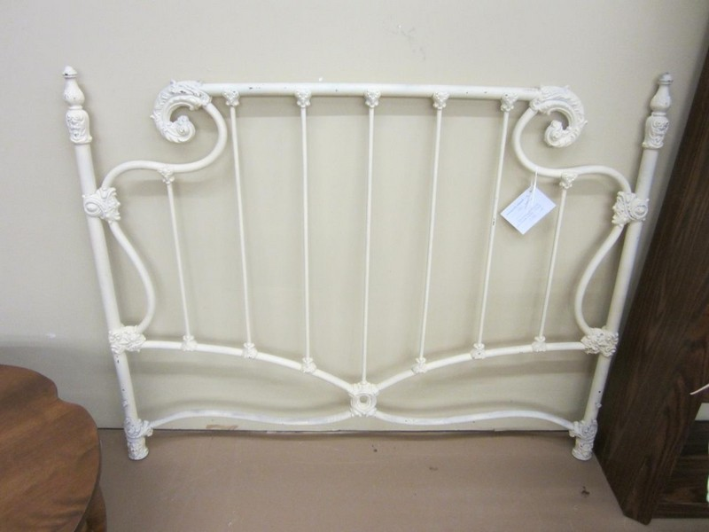 White Iron Headboard Full