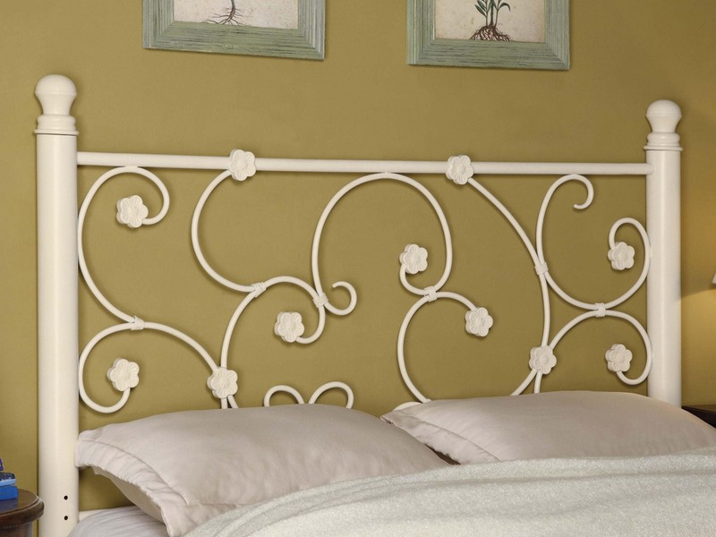 White Iron Headboard Ikea