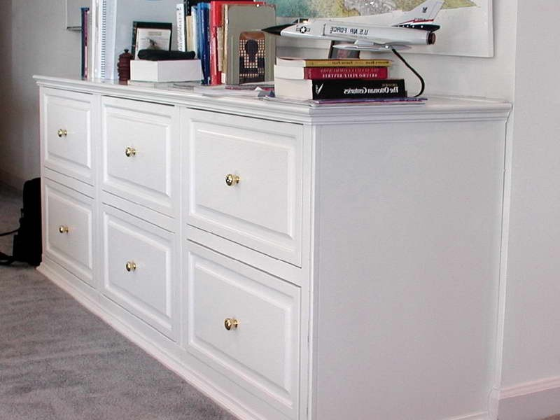 White Lateral File Cabinet