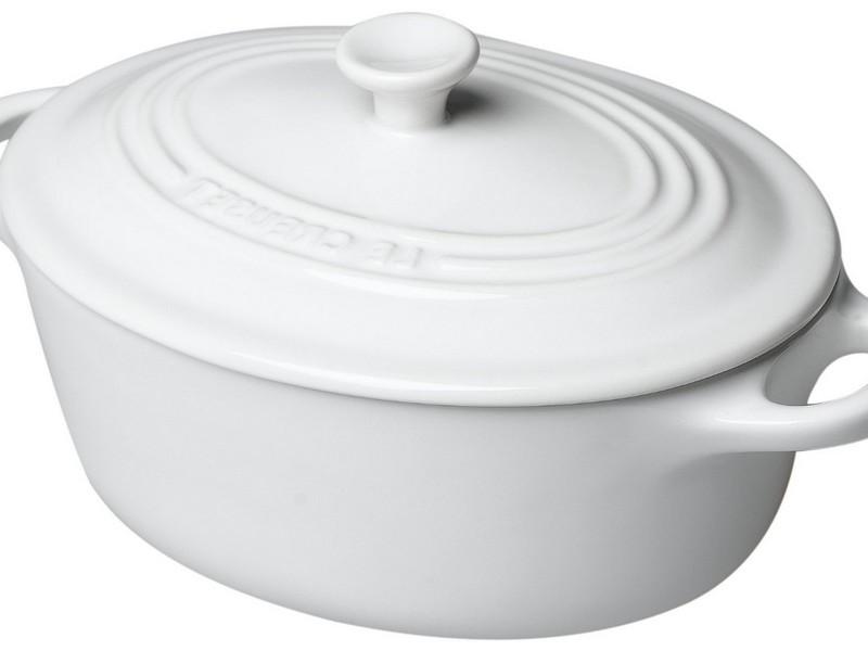 White Le Creuset Dutch Oven