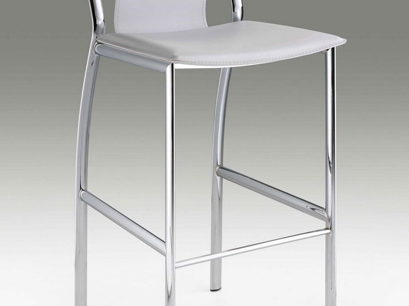 White Leather Bar Stools With Backs