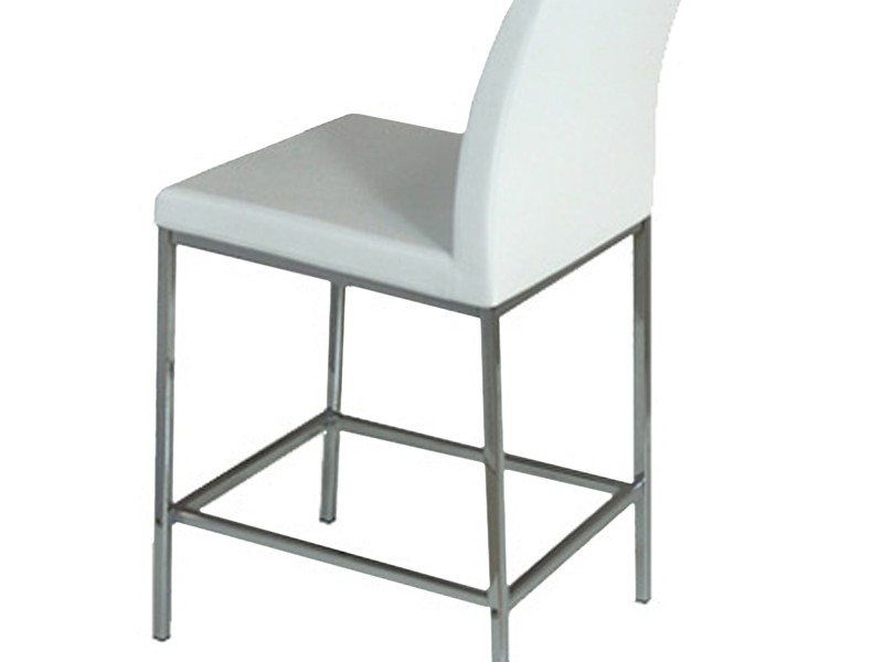 White Leather Counter Stools Canada