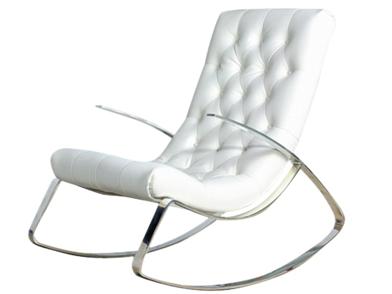 White Leather Reclining Chair