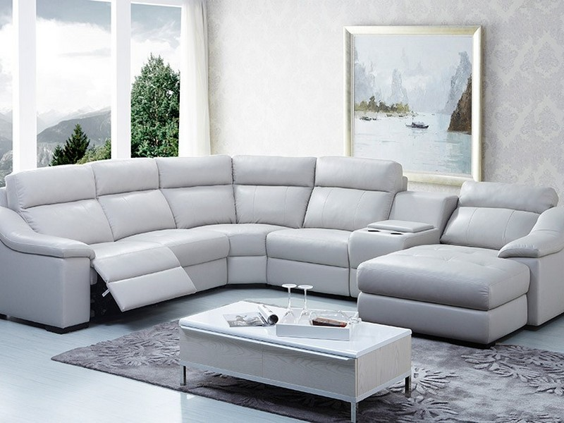 White Leather Sofa Sectional