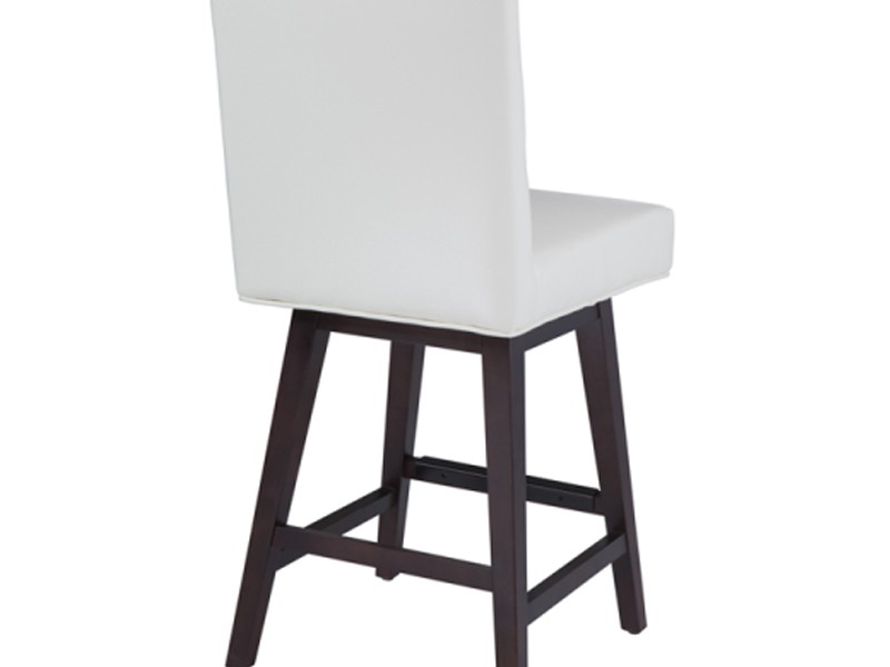White Leather Swivel Counter Stools