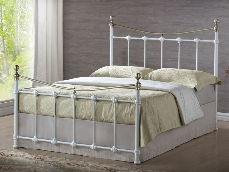 White Metal Bed Frame Full Size