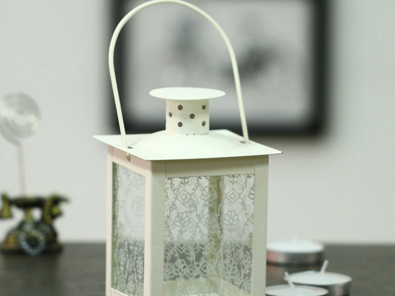 White Metal Lanterns For Weddings