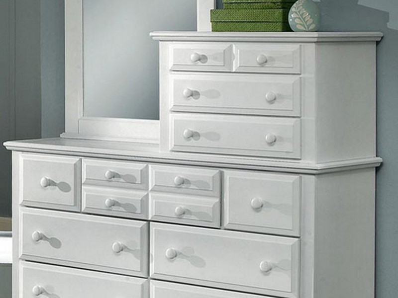 White Mirrored Nightstand Target