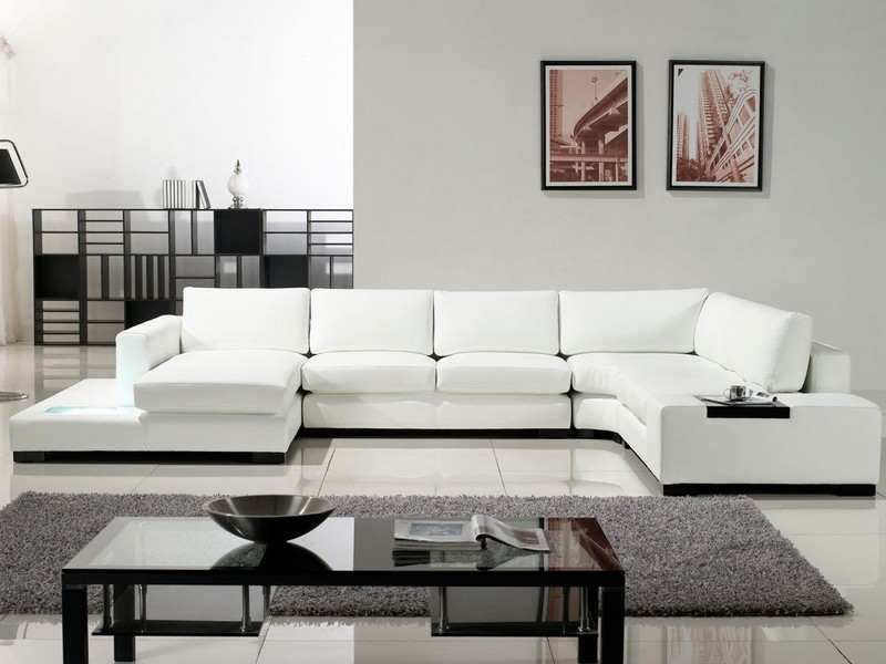 White Modern Sectional Couch