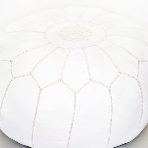 White Moroccan Pouf