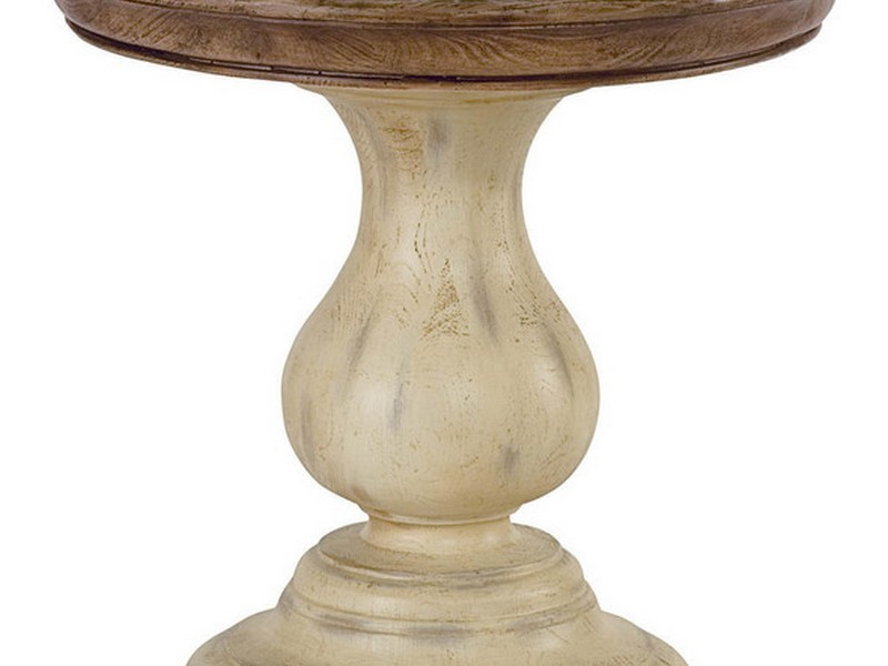 White Pedestal Side Table