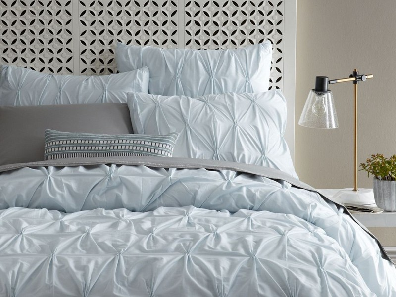 White Pleated Duvet Cover