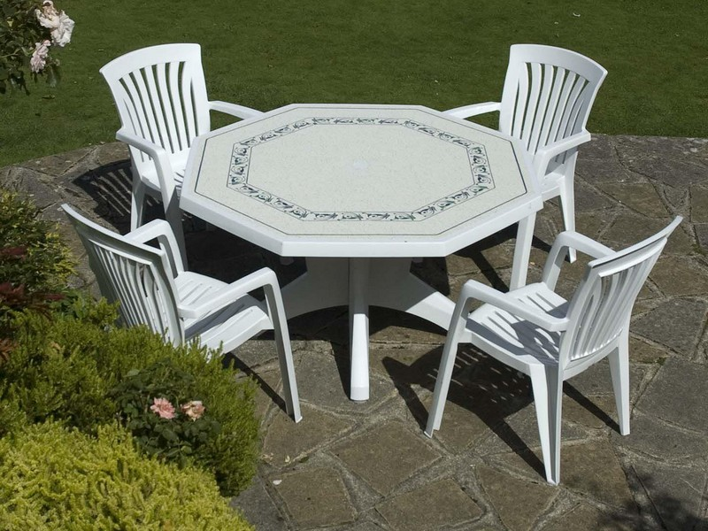 White Resin Patio Furniture Cleaner