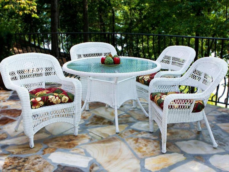 White Resin Patio Furniture Set