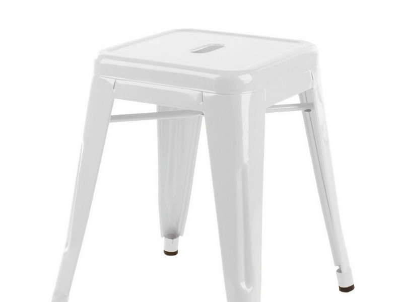 White Saddle Counter Stools
