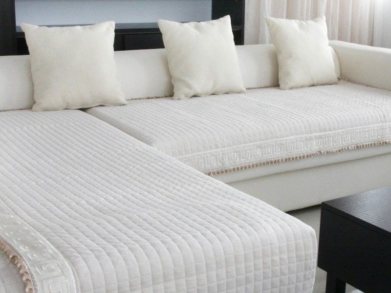 White Sectional Couch Cover