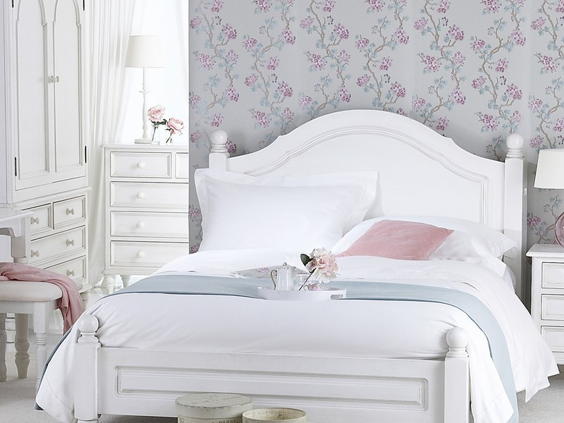 White Shabby Chic Bed Frame