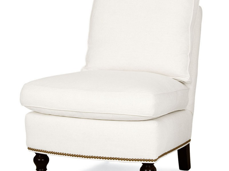 White Slipper Chair