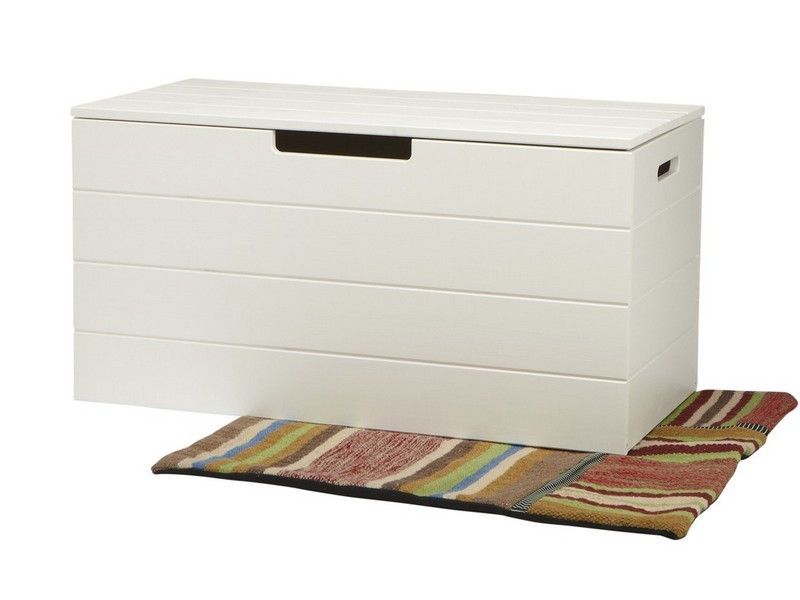 White Storage Trunk Uk