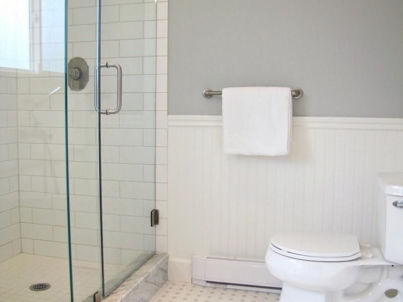 White Subway Tile Bathroom Floor