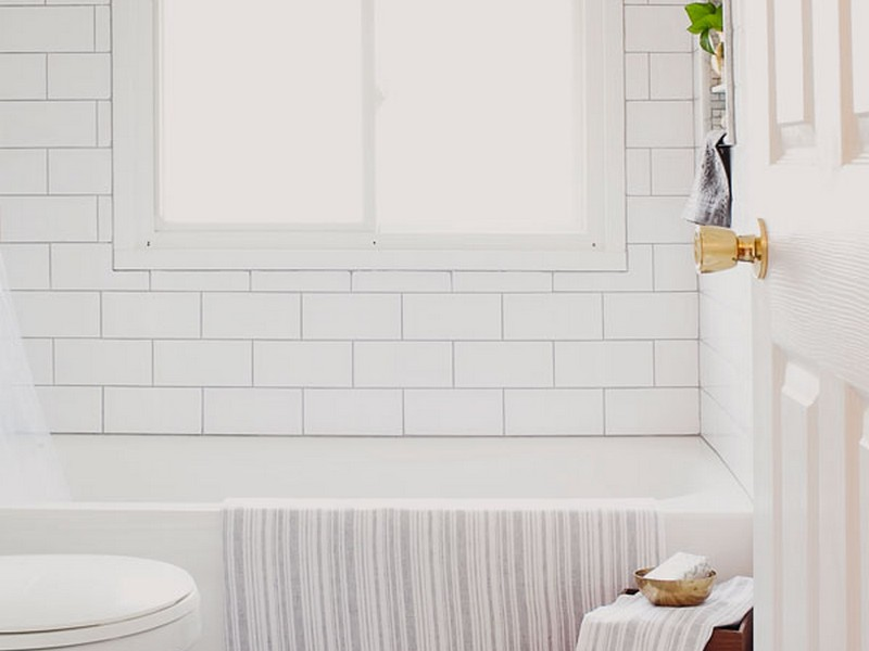 White Subway Tile Bathroom Images
