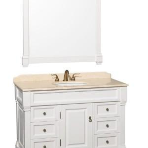 White Traditional Bathroom Vanities