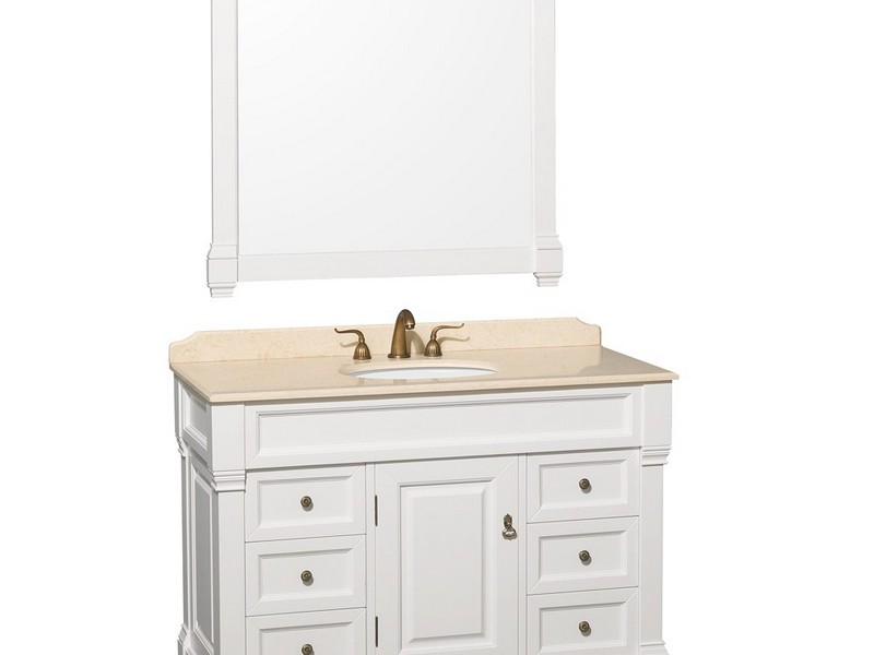 White Traditional Bathroom Vanities