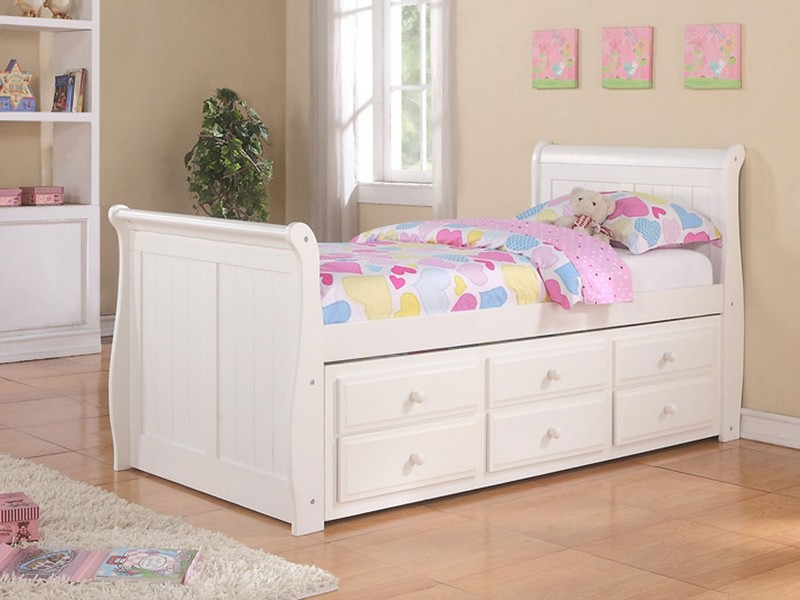 White Trundle Bed Twin