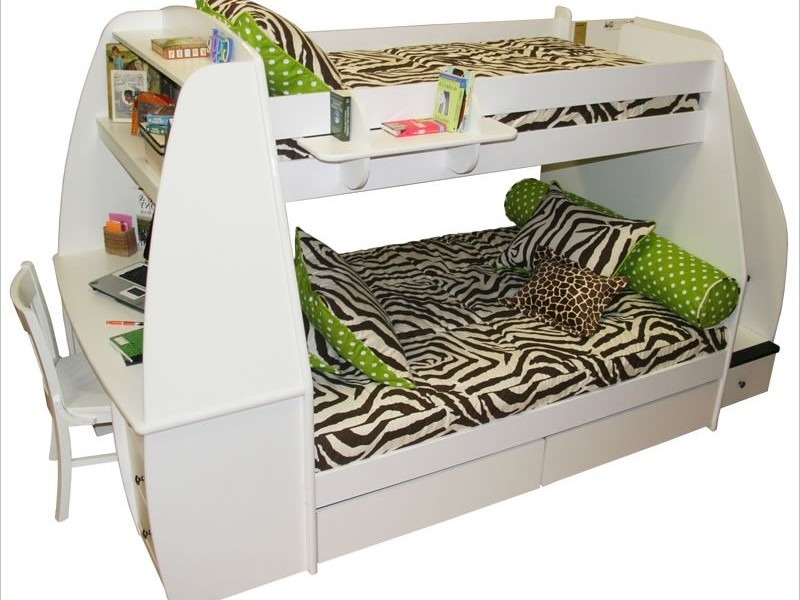 White Trundle Bunk Bed
