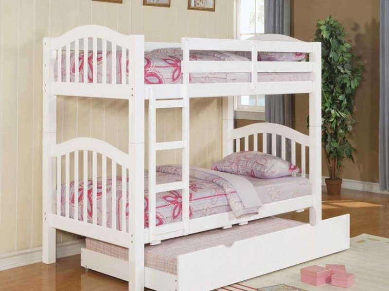 White Trundle Bunk Beds